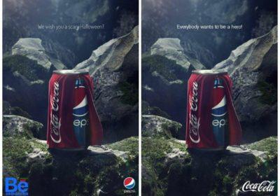 تبلیغات خلاقانه و کنایه آمیز پپسی با استفاده از کوکاکولا/عکس